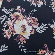 Tissu en mousseline de soie 100% polyester à motif flou léger