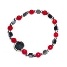 Bracelet de chapelet religieux en plastique avec perles d'hématite