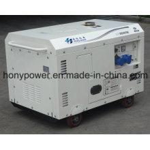 Generador diesel silencioso refrescado aire 7kVA para Suráfrica