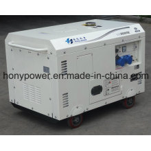 Générateur diesel silencieux refroidi par air de 7kVA pour l'Afrique du Sud