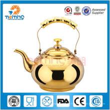 mini théières de style romain en acier inoxydable, bouilloire de thé écologique