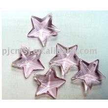2015 vente chaude ornement de cristal bon marché pour la décoration, forme d'étoile de verre ornement