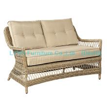 Mobiliário de jardim Wicker Love Seat Circle Rattan Sofa