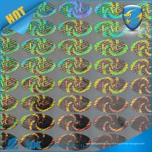 Etiqueta engomada holográfica de la impresión láser del diseño a todo color