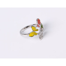 Butterfly Fashion Jewelry Ring with Epoxy