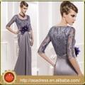 MFD 019 Summer Dress Real Simple Purple Flower Party Dress Floor-Length Half Sleeve Mother of the Bride Dress