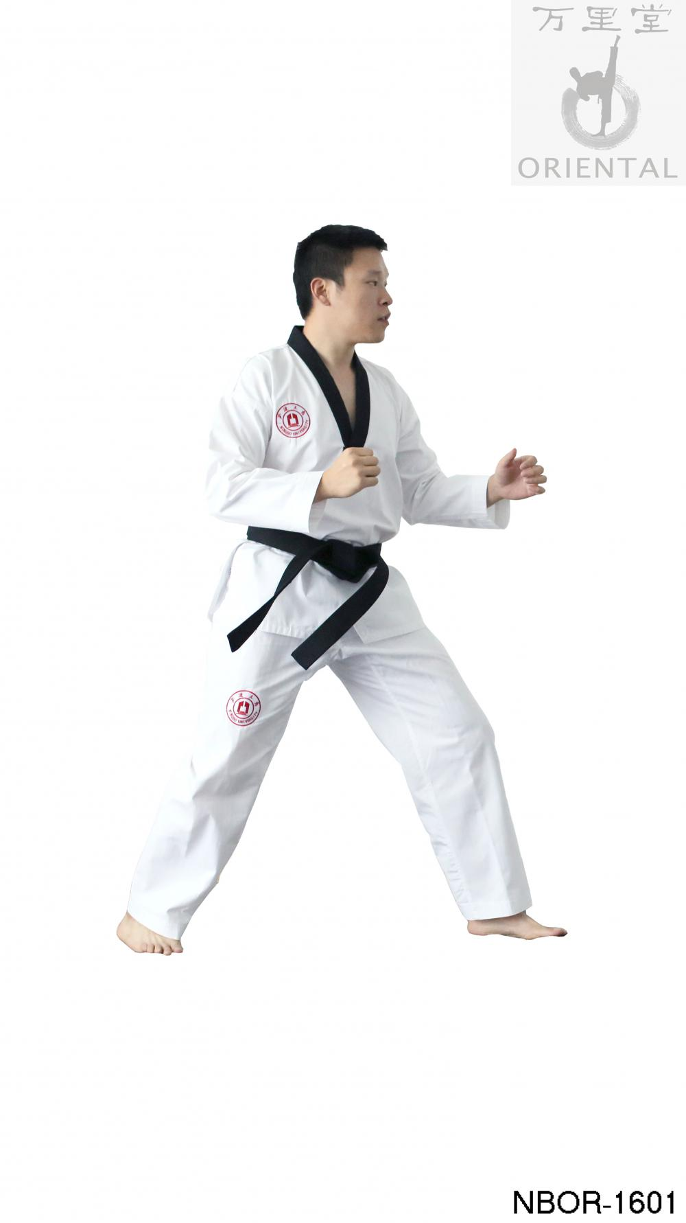 cheap taekwondo white uniform with free belts