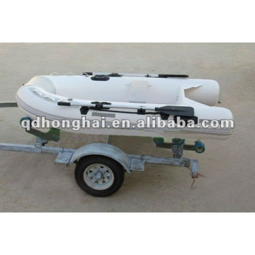 small rigid fiberglss hull RIB270 boat with CE