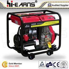 Air-Cooled Open Frame Type Diesel Generator Recoil Start (DG8000)