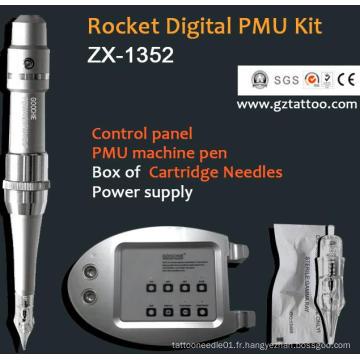 Panneau de contrôle numérique Machine professionnelle professionnel de tatouage à maquillage permanent (ZX1352)