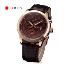 Bán buôn CURREN Genuine Leather Quartz Men Watch