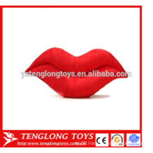 Big red sexy lips stuffed cushion plush pillow lips shaped plush toy for Valentine's Day
