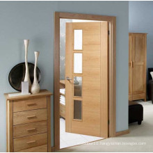 Glass Glazed modern bathroom wooden door