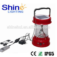 IP65 approved waterproof solor lantern for camping lantern with cell phone charger