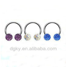 Crystal Ball CBR Crystal Captive Bead Rings