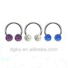 Crystal Ball CBR Crystal Captive Bead Rings