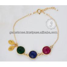 Jóias de moda indianas feitas à mão com pedras preciosas Onyx Sterling Silver para melhor presente