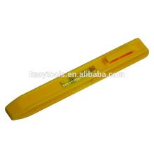 Tipo de bolígrafo indicador de nivel de burbuja de plástico