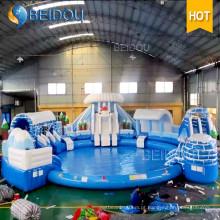 Popular gigante comercial piscinas infláveis adultos grande piscina inflável