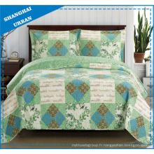 Ensemble de couvre-lit de style patchwork en polyester imprimé country vintage