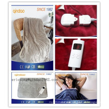 Washable 5 Heat-Settings Controller Electric Throw Blanket for EU Market