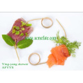 Fruit picking twisted bamboo loop skewer