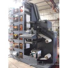 Máquina de impressão flexográfica com 6 cores