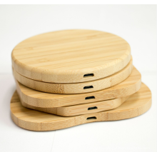 Kabest Hot Sell  Wooden Wireless Charger  various Shape  Wooden Bamboo Wireless Charger 10W Wood Charging Pad