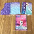 Diseño de brillo Cubierta de tarjeta de troquelado A5 Cuadernos de ejercicios escolares