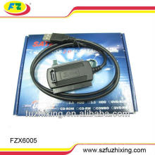 Кабель конвертера USB2.0 до 2.5 / 3.5 SATA и IDE