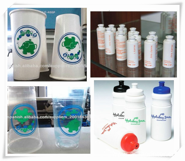 Glass cup and bottles silk screen printer