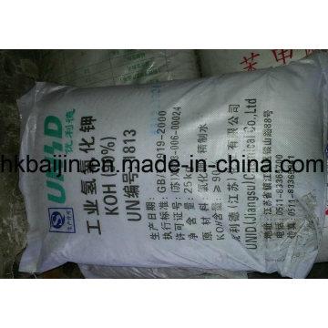 Hydroxyde de potassium en flocons blancs KOH 90%