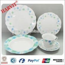 Vente en gros 47pcs Procelain Vaisselle ronde / Vaisselle en céramique italienne / Dernier jeu de dîner avec design populaire