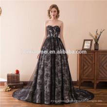 2018 mujeres fuera del hombro sexy noche guangzhou negro vestido de vendaje