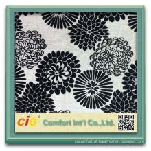 Moda novo design 100% poliéster floral chenille sofá tecido