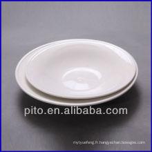 P & T en porcelaine ronde plaque de plat pleine assiette plaque de salade