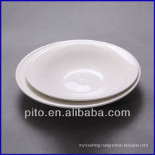 P&T porcelain round deep plate pasta plate salad plate