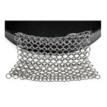 Stainless Steel Chainmail layar Link Cleaner