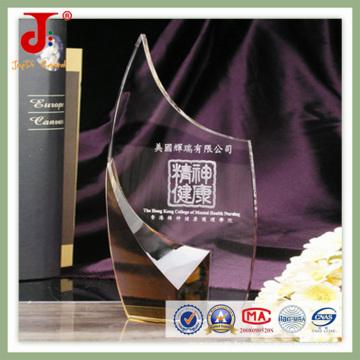 Trophée 2016 de vente chaude de verre de cristal de haute qualité