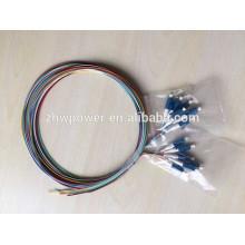 Câble de dérivation LC ventilateur câble de raccordement à fibre optique 12 core LC pigtail