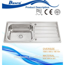 DS 10050 Building Material composite bathroom stainless steel corner granite composite sinks