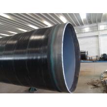 Exterior 3PE Dentro Fbe Revestido Grande Diâmetro Água Tubo de Aço