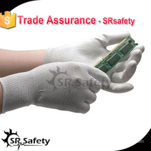 SRSAFETY ESD PU palm glove with best quality and cheap price,china supplier / working gloves