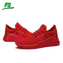 Nouveau style personnalisé mode sport chaussures de course mouche tricot hommes baskets