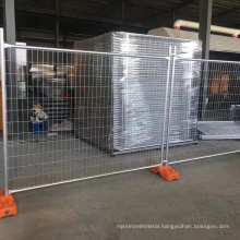 Galvanized electric welded removable security movable chain link temporary fence