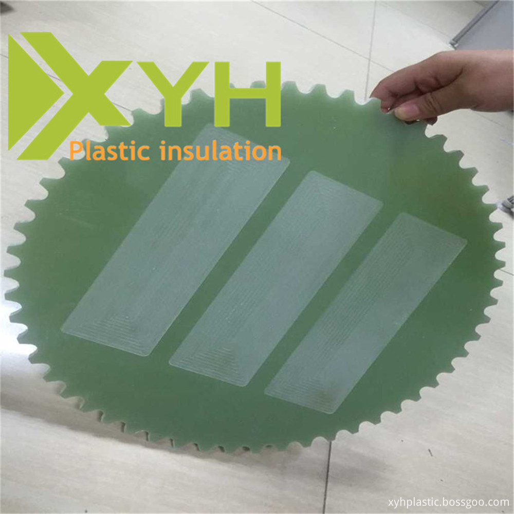 Machined FR4 epoxy fiberglass plate