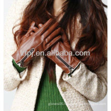 zippered Imported sheepskin glove