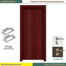 Porte en bois de porte de PVC de porte intérieure de PVC de porte de PVC