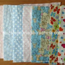 100% algodão flanela com impressão / Shirting / forro / pijamas