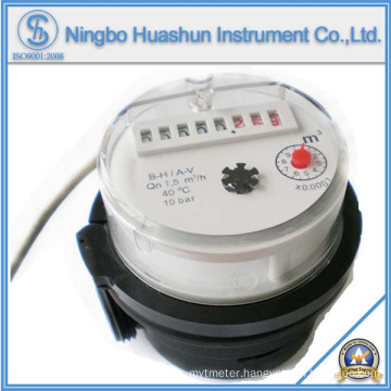 Single Jet Dry Type Plastic Body Water Meter with Pulse Output
